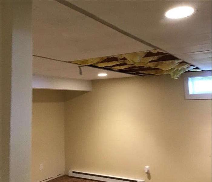 Before ceiling leak